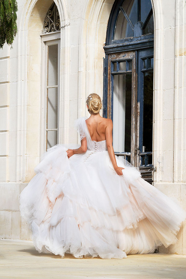 Champagne Blush Wedding Dress